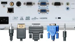 Conexiones para proyectores