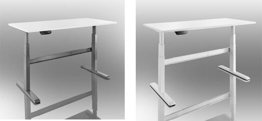 Mesas regulables eléctricamente en altura