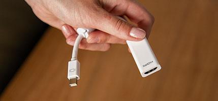 adaptador Thunderbolt o Mini DisplayPort a HDMI